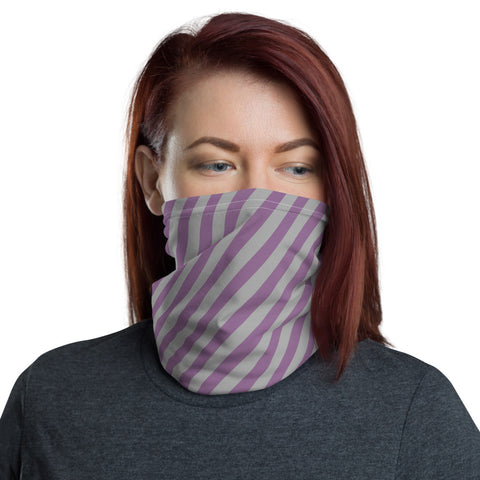 Purple striped face mask
