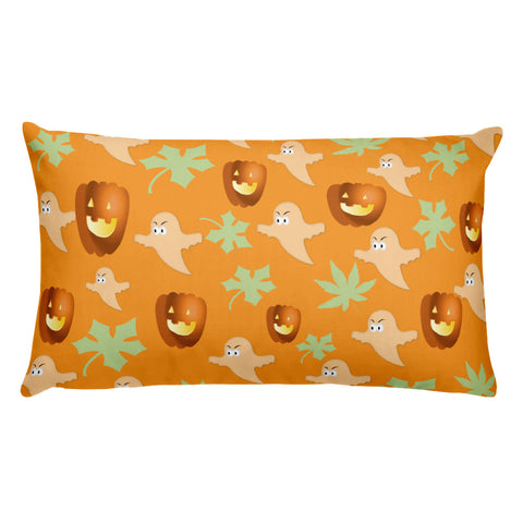 Pumpkins and Ghosts Pillow