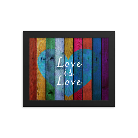 Love Is Love Framed Poster