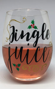 Jingle Juice Wine Glass - Izzy Marie's