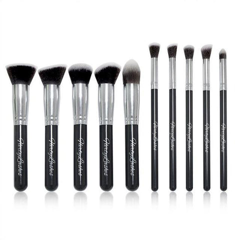 Kabuki 10 Piece Brush Set (Black)