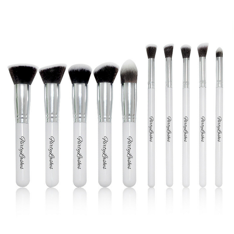 Kabuki 10 Piece Brush Set (White)