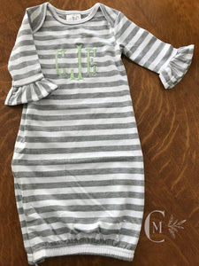Baby Girl Ruffle Gown