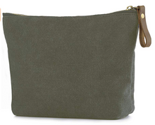Minimalist Canvas and Leather Clutch Bag