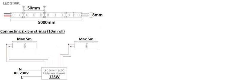 12v led strip light diagram