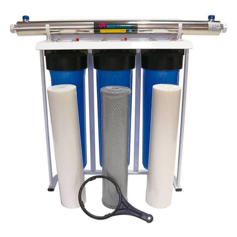 Big Blue water filtration system with 55W UV system