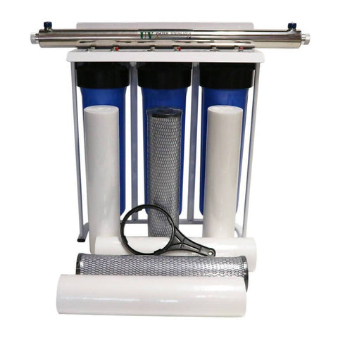 Big Blue water filtration system with 55W UV sterilizer