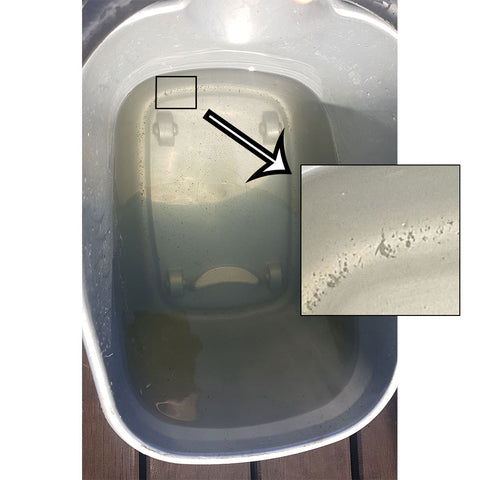 Dirty water from rainwater tank