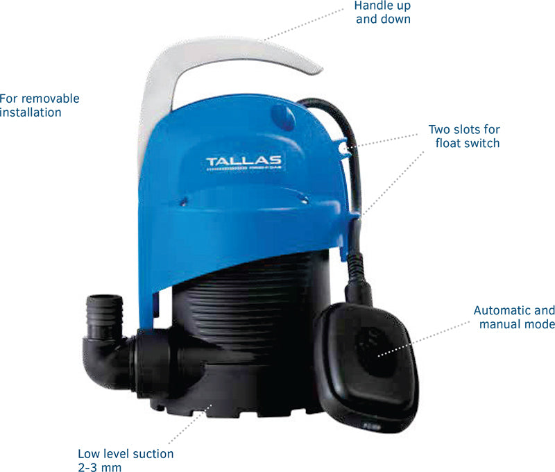 tallas submersible pump features image