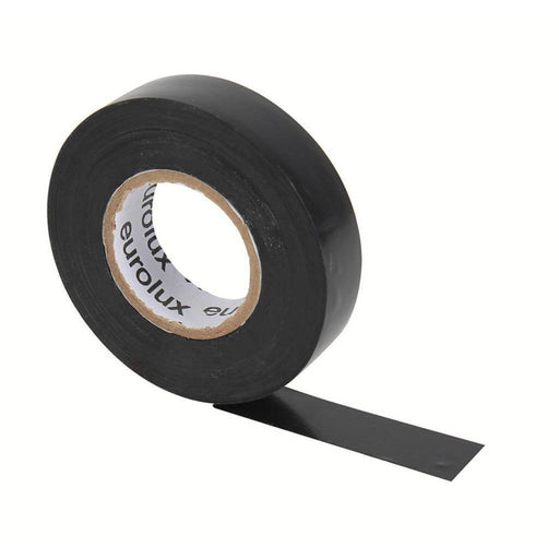 EUROLUX 20m PVC Insulation Tape, 0.19mm x 18mm, Black-Electrical-Eco Depot Africa