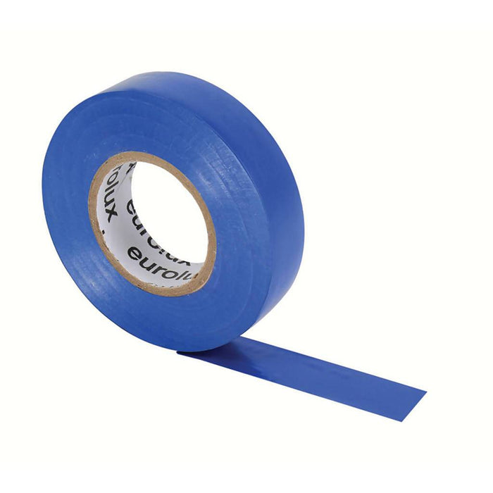 EUROLUX 20m PVC Insulation Tape, 0.19mm x 18mm, Blue-Electrical-Eco Depot Africa