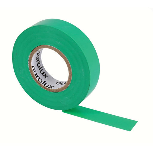 EUROLUX 20m PVC Insulation Tape, 0.19mm x 18mm, Green-Electrical-Eco Depot Africa