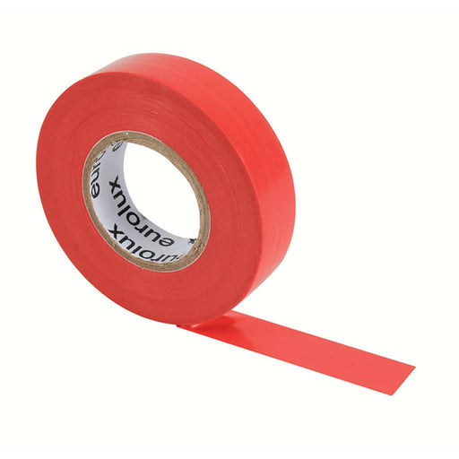 EUROLUX 20m PVC Insulation Tape, 0.19mm x 18mm, Red-Electrical-Eco Depot Africa