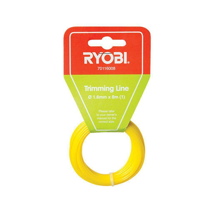 RYOBI Trimming Line (1.6mm x 8m, Yellow) - Single-Power Tool Accessories-Eco Depot Africa