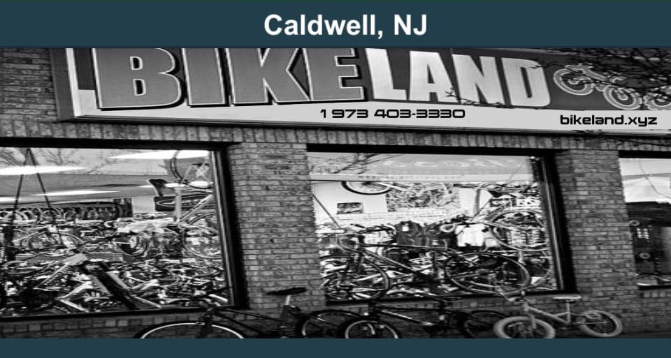 Front exterior picture of Bikland's bike shop in Caldwell, Woodlands, NJ