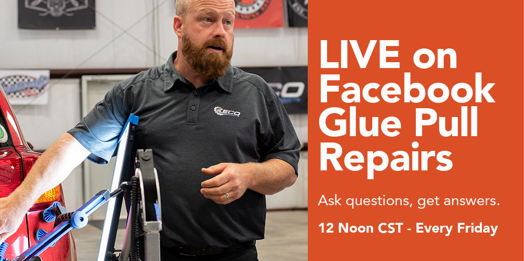 live glue pull repair training every friday. 12 pm cdt. ask questions. get answers.