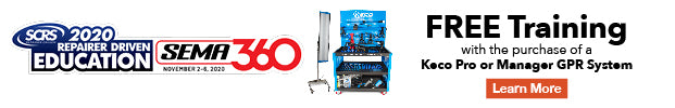 receive free training with the purchase of eligible KECO manager or pro glue pull repair system