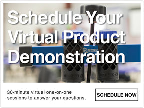 schedule your virtual product demonstration 30 minute virtual one-on-one session to answer your questions about GPR