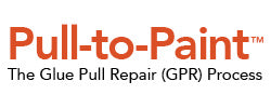 pull to paint glue pull collision dent repair process