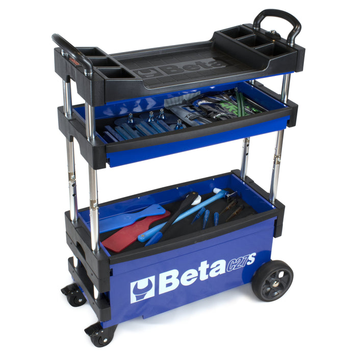 Beta Blue Collapsible Portable Tool Cart (C27S)
