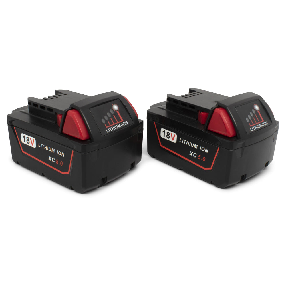 18 Volt Milwakee Compatible Lithium Battery (2 Pack)