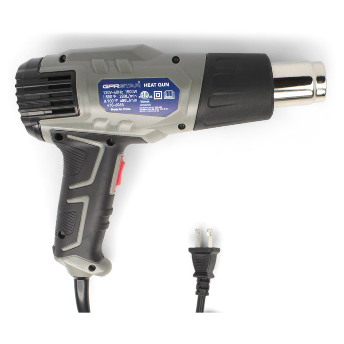 GPR Star 2000 Watt US Plug Dual Temperature Heat Gun (410-6068)