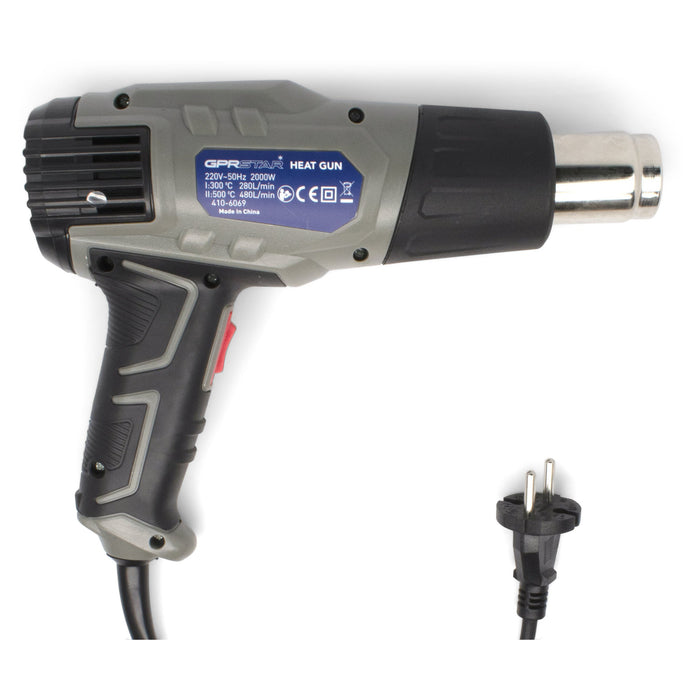 GPR Star 1500 Watt European Plug Dual Temperature Heat Gun (410-6069)