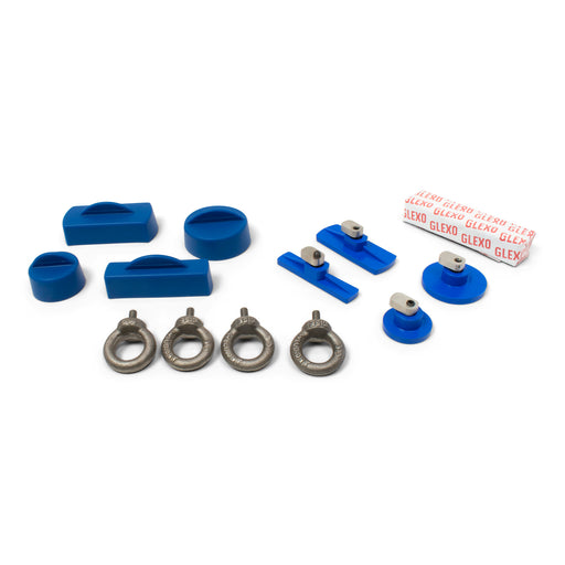 Keco Cold Glue Kit with Glexo Cold Glue and Eyebolts (4 Tabs)