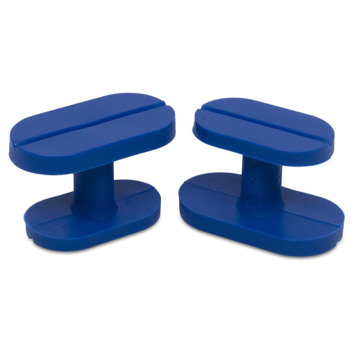 Keco 13 x 22 mm / 14 x 26 mm Blue Smooth Dual Size Crease Tab (5 Pack)