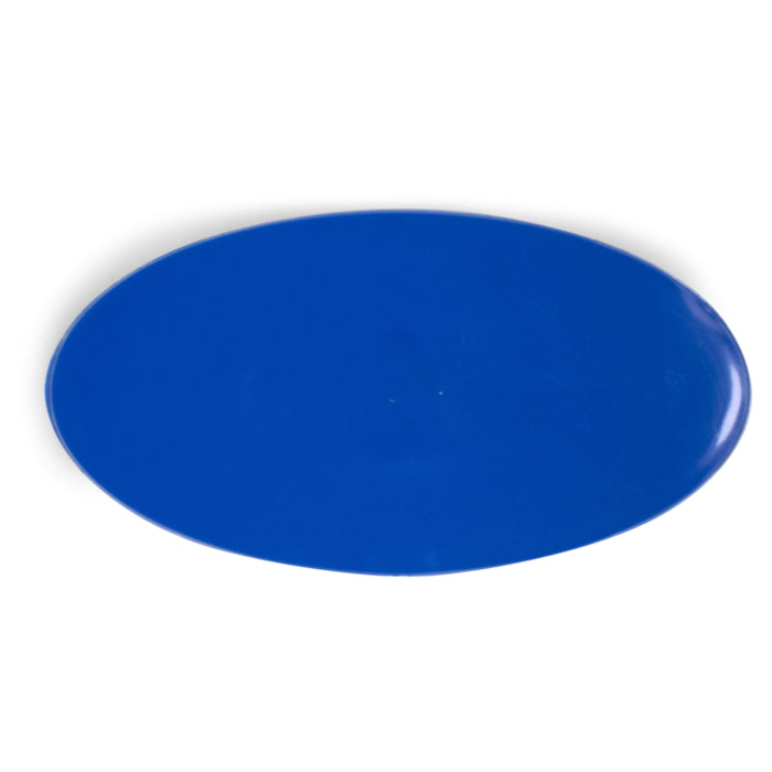 "SuperTab® 3 x 6"" Blue Smooth Oval Glue Tab"