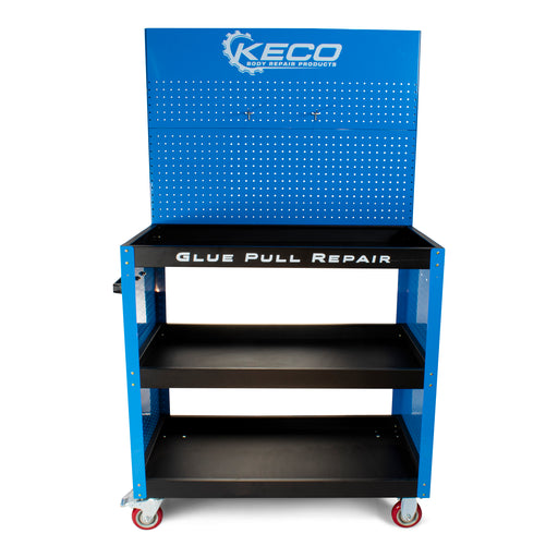 Blue Glue Pull Station Collision Center Cart