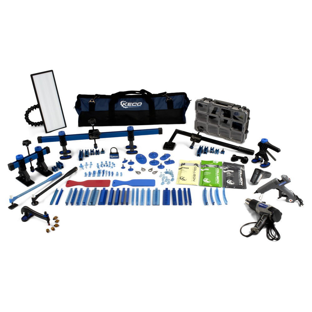 Keco Level 2 Glue Pull Collision Manager Kit with Portable Shop Light and Bag - US