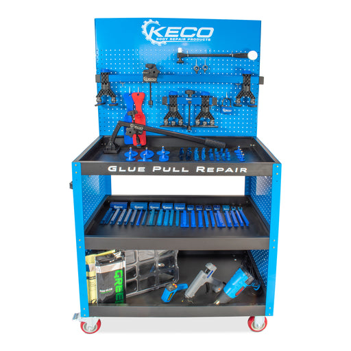 Keco Level 1 Glue Pull Collision Pro Kit with Cart - 110 V