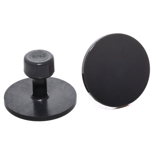 Black Plague Gray 30 mm Smooth Round Glue Tab (10 Pack) (BP30MM10)