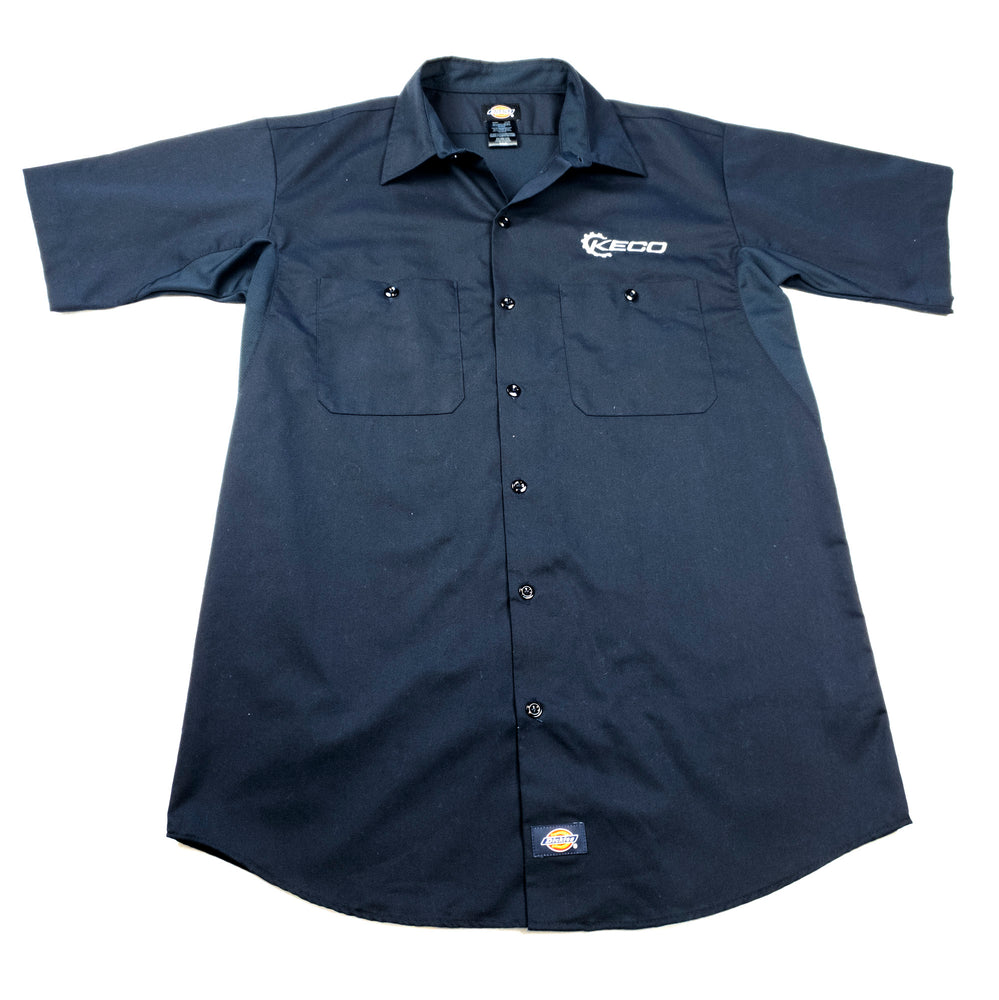 Keco Blue Dickies Short Sleeve Work Shirt - XL