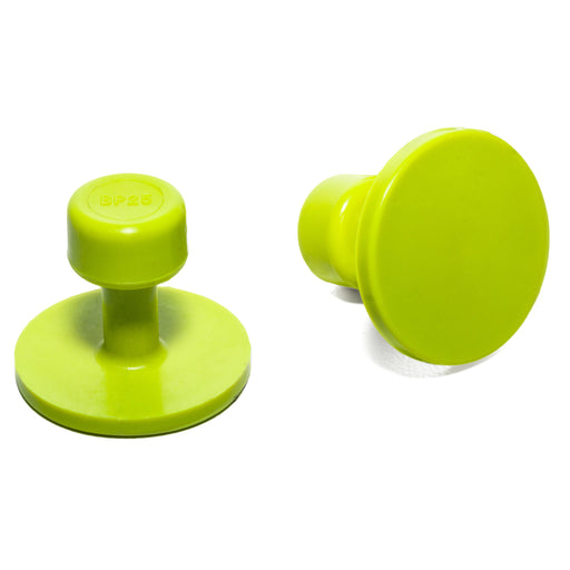Gang Green 25 mm Smooth Round Glue Tab (10 Pack) (GBP25MM10)
