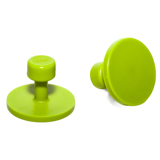 Gang Green 30 mm Smooth Round Glue Tab (10 Pack) (GBP30MM10)
