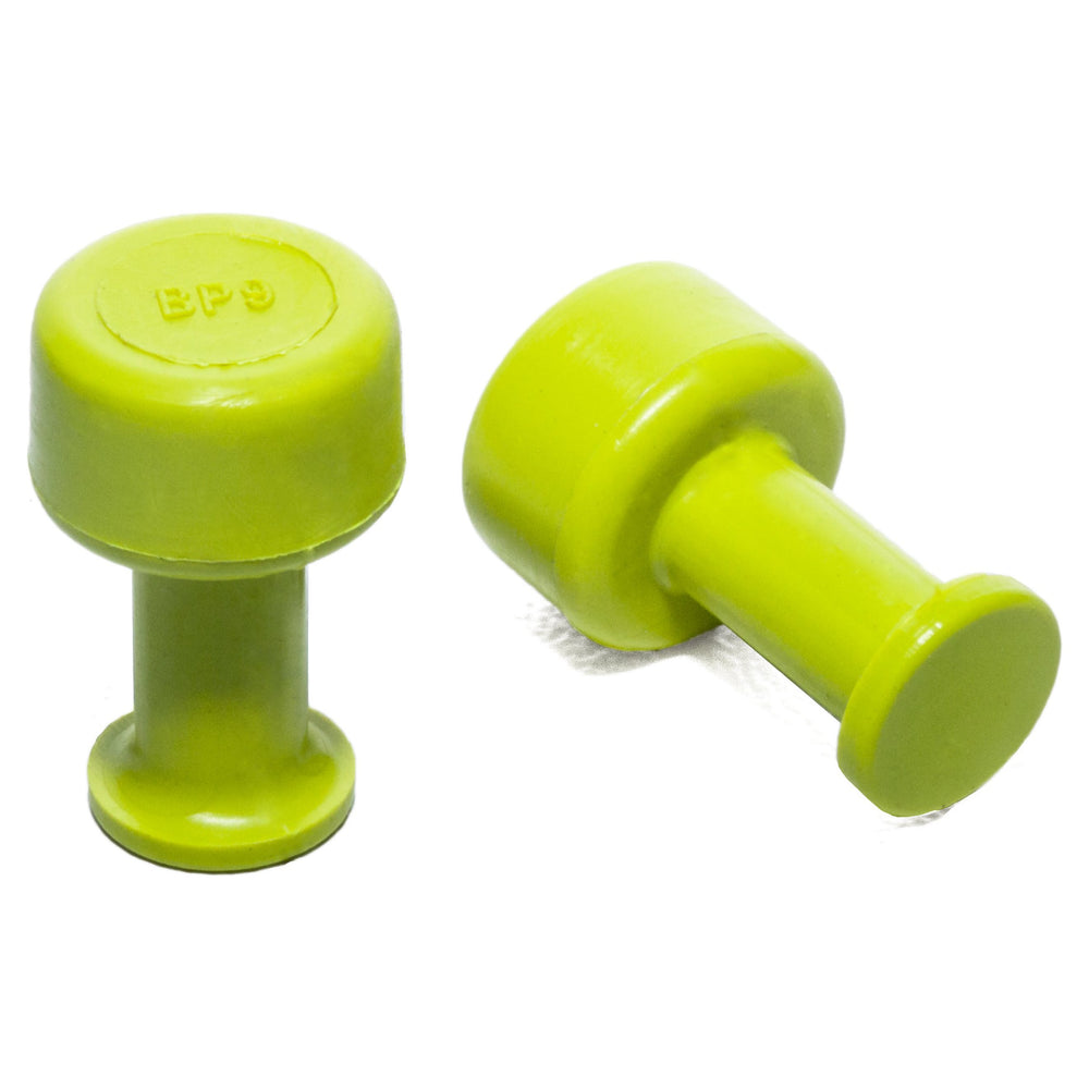 Gang Green 9 mm Smooth Round Glue Tab (10 Pack) (GBP9MM10)