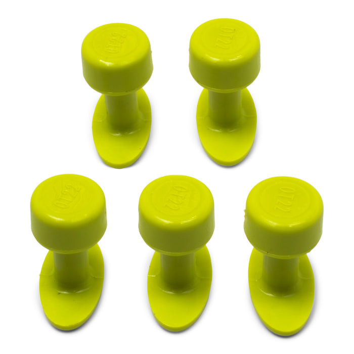 Gang Green 22 mm Smooth Oval Glue Tab (5 Pack) (GOT22MM5)