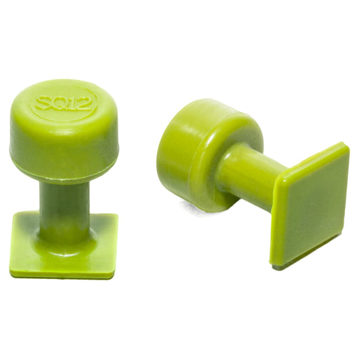 Gang Green 12 mm Smooth Square Glue Tab (10 Pack) (GSQ12MM10)
