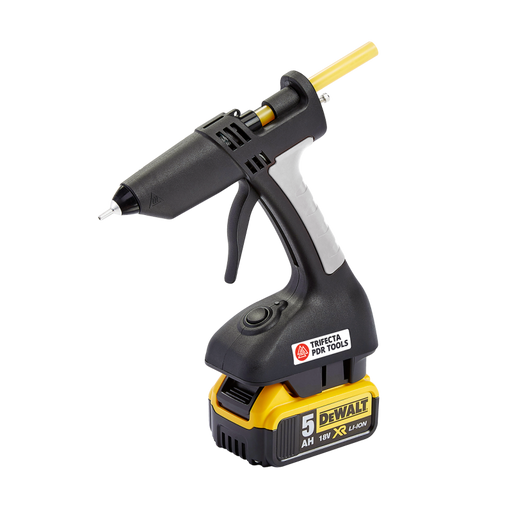 Trifecta Cordless 18V Cordless PDR Glue Gun - with DeWalt Battery Adapter