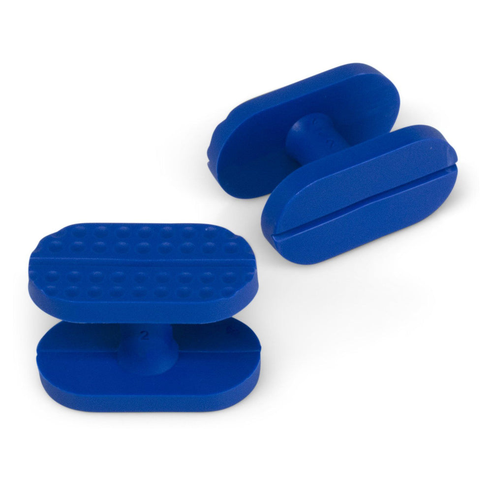 Keco 14 x 26 mm Blue Smooth and Dimpled Dual Surface Flip Crease Tab (5 Pack)
