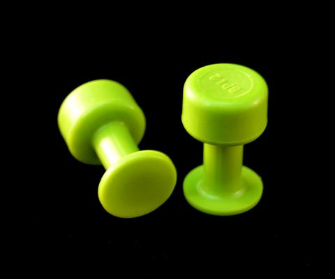 Gang Green 12 mm Smooth Round Glue Tab (10 Pack) (GBP12MM10)
