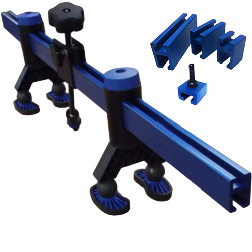K-Beam Bridge Lifter with 4 adapters for large body repair.
