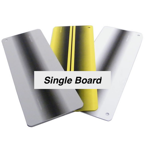 "Dentcraft 6 x 16"" Yellow, White and Gray Large Reflector Boards (3 Pack) (XLBRDPK)"