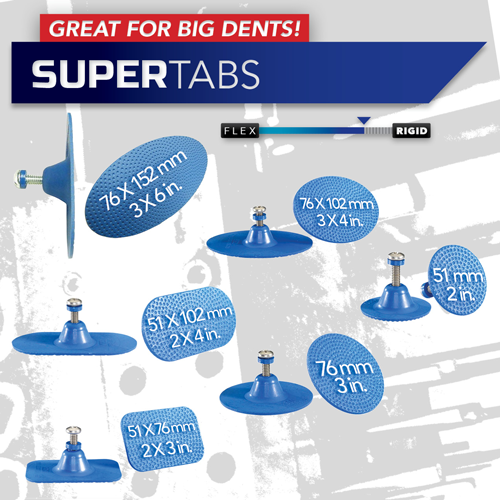 Super Tab Variety Pack w/ Eyebolts for pulling large dents out of vehicles by kecotabs.