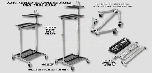 Ultra Lightweight Stainless PDR Tool Cart w/Glue Tray (A61LGT)