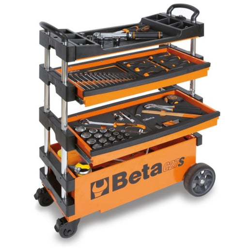 Beta Orange Collapsible Portable Tool Cart (C27S)