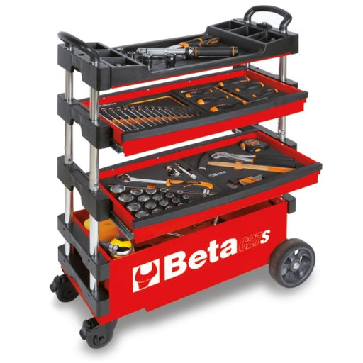 Beta Collapsible Portable Tool Cart - Red (C27S)