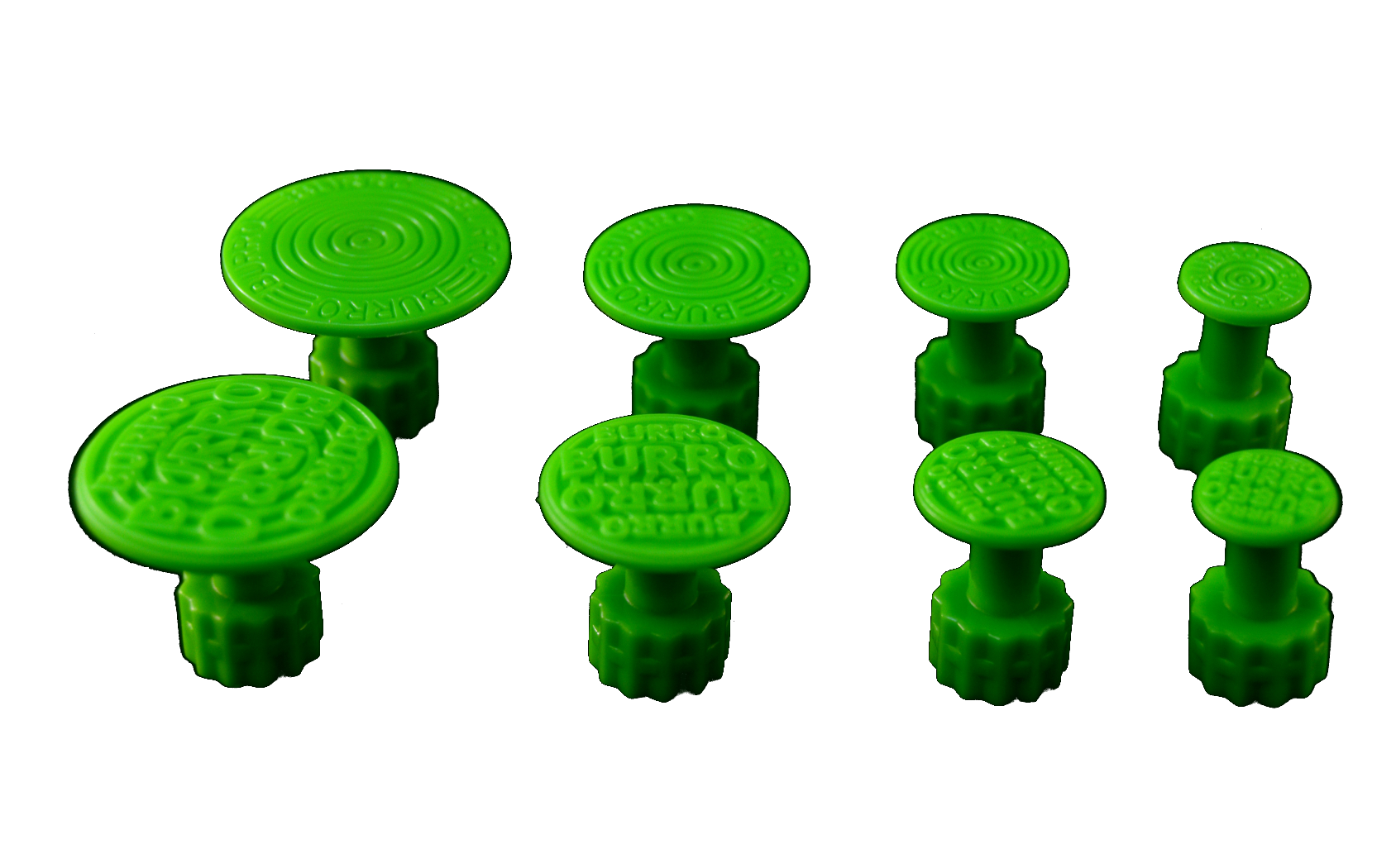Burro Cactus Green Round Glue Tabs - Variety Pack (8 Pieces) (BCG-V)